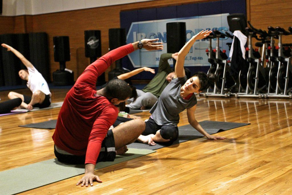 stretching-warming-up